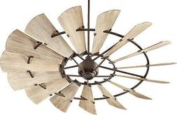 Quorum 97215-86 Windmill Ceiling Fan in Oiled Bronze with We