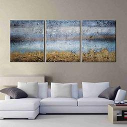 ARTLAND Modern 100% Hand Painted Abstract Oil Painting on Ca