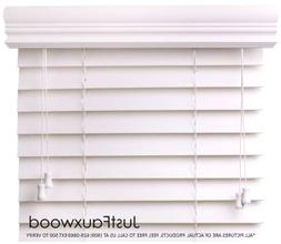 """CBC - Custom 2"""" Faux Wood Blinds White w/ Crown Valance - Wi"""