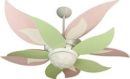 "-	Craftmade BL52W, Bloom Ceiling Fan with Light, 52"" Span, W"