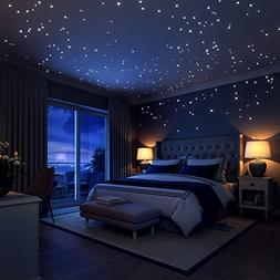 Glow In The Dark Stars Wall Stickers,252 Adhesive Dots and M