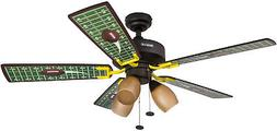 Honeywell Touchdown 48-Inch Football Ceiling Fan with Amber
