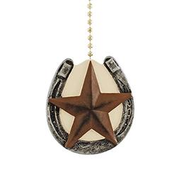 Horseshoe with Barn Texas Star Primitive Design Ceiling Fan