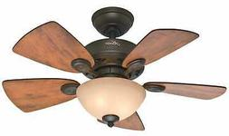 "Hunter 52090 Watson 34"" Ceiling Fan, New Bronze"