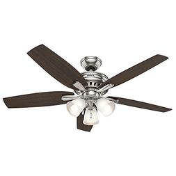 "Hunter 53318 Newsome Ceiling Fan with Light, 52""/Large, Brus"
