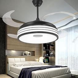 Huston Fan,Modern Style Retractable Ceiling Fans Light with
