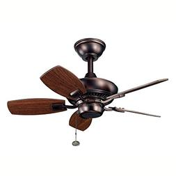 Kichler 300103OBB 30-Inch Canfield Fan, Oil Brushed Bronze