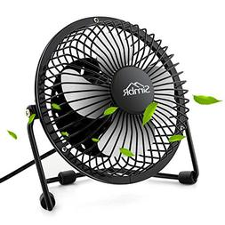 SIMBR Portable USB Mini Desk Fan with Quiet Strong Centered