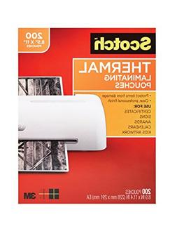 Scotch Thermal Laminating Pouches, 8.9 x 11.4-Inches, 3 mil