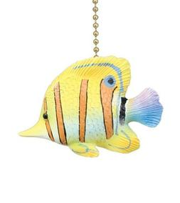 Clementine Design Tropical Yellow Angelfish Ceiling Fan Pull