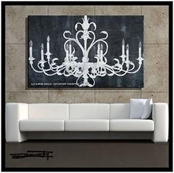 Abstract Modern Canvas Painting, Contemporary Wall Art - PAL