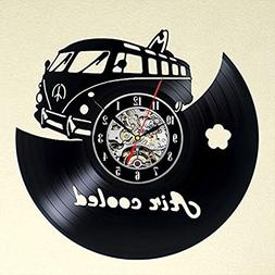 Air Cooled Gift Wall Clock Vinyl Record Art Decor Vintage