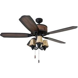 "Prominence Home 41110-01 Almer Point 52"" Lodge Ceiling Fan w"