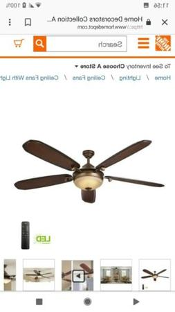 Amaretto 70 in. LED Indoor French Beige Ceiling Fan with Lig