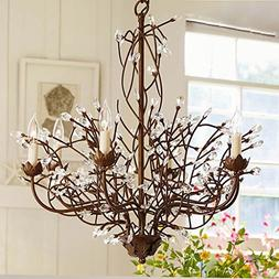 AMOS American Retro Iron Crystal Living Room Branches Chande