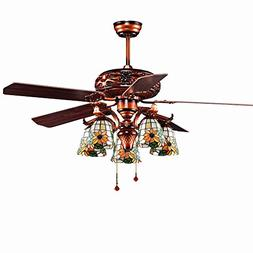 Andersonlight Classic Antique Ceiling Fan with Lights for Re