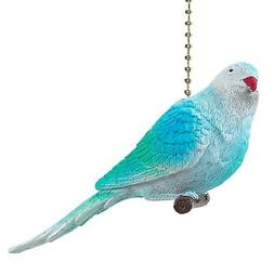 Baby Blue Parakeet Decorative Ceiling Fan Light Pull 3 Dimen