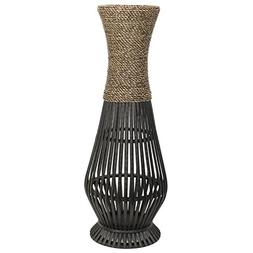 "Hosley Tall Bamboo Wood Floor Vase 26"" High. Ideal Gift for"