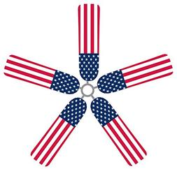 Fan Blade Designs American Flag Ceiling Fan Blade Covers