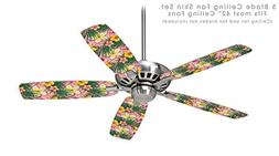 Beach Flowers 02 Pink - Ceiling Fan Skin Kit fits most 42 in