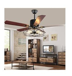 "BEST DEAL Industrial 52""Ceiling Fan Semi Flush Mount Ceiling"