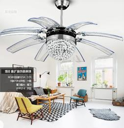 "Best Offer!!!42"" Remote Control Crystal Ceiling Fan La"