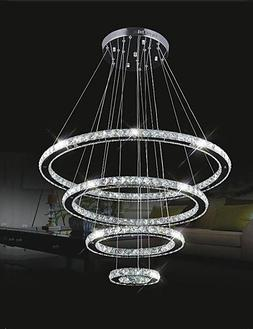 BIAN- LED Crystal Pendant Lights Ceiling Lighting Clear Crys