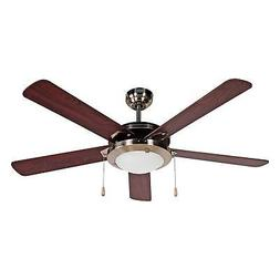 "Black & Decker 52"" 5 Blade Reversible Ceiling Fan, Mahogany"