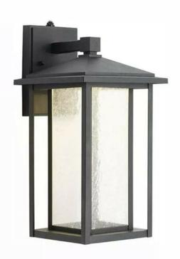 Home Decorators Collection Black Medium Outdoor Seeded Glass