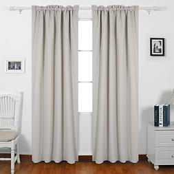 Deconovo Blackout Drapes Texture Embossed Thermal Insulated