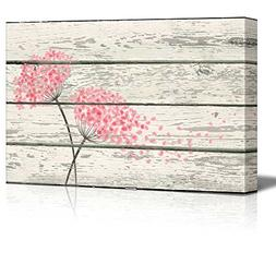 Wall26 - Flowering Pink blowing in Wind Artworkd- Rustic Can