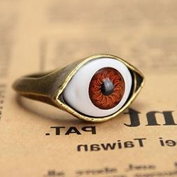 BoatShop Halloween Vintage Punk Bronze Evil Eye Ring Eyeball