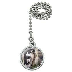 Border Collies Window Dogs Ceiling Fan and Light Pull Chain