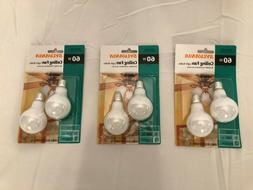 BRAND NEW 3 Packs of 2 Sylvania A15 60W Indoor Ceiling Fan L