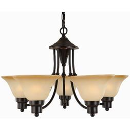 Hardware House Bristol Series 5 Light Oil Rubbed Bronze 24 I