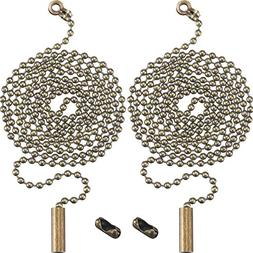 Shappy 2 Pack Bronze Beaded Pull Chain Extension with Connec