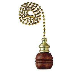 Angelo Brothers 77007  Pull Chain Walnut & Brass Ball