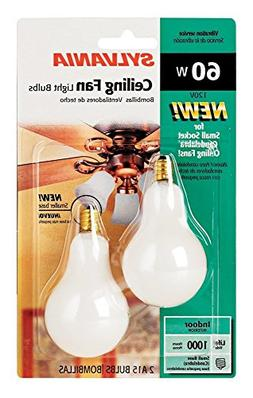 Sylvania 2-Pack 60 Watt Candelabra Ceiling Fan Light Bulbs