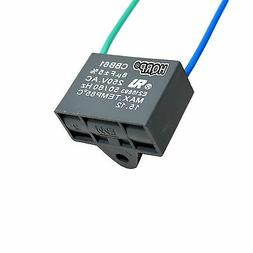 HQRP Capacitor for Hampton Bay Ceiling Fan 8uf 2-Wire, CBB61