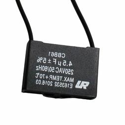 Wadoy Cbb61 Ceiling Fan Capacitor For New Tech 2 Wire 4.5Uf