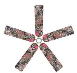 Ceiling Fan Blade FABRIC Cover PINK CAMOUFLAGE home decor hu