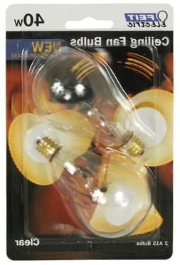 Feit Ceiling Fan Bulb 40W 120V Clear Candelabra E12 Base BP4
