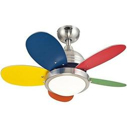 Ceiling Fan Light Kit 30 Inch Brushed Nickel Indoor with Opa