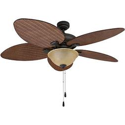 Prominence Home Ceiling Fan Palm Valley Tropical  Palm Leaf