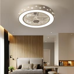 Ceiling Fan With Light Kit Remote Control LED Lamp Modern Be