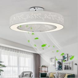Ceiling Fan With Light Remote Control LED Lamp Flower Dimmab