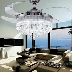 COLORLED Ceiling Flush Mounted Light Kit Crystal Silver Draw