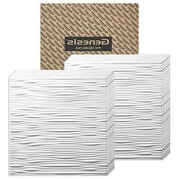 Genesis - Drifts White 2x2 Ceiling Tiles 3 mm thick  – The