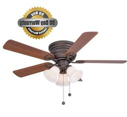 Clarkston CF544H-PEH Oiled Rubbed Bronze Ceiling Fan 44 ""