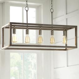 Home Decorators Collection Boswell Quarter 5-Light Brushed N